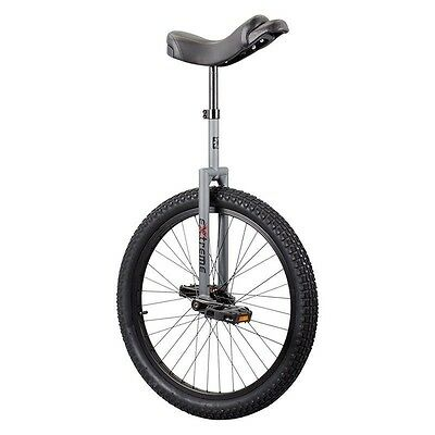 """Sun Bicycles Extreme Unicycle Grey 24""""-Flat Top Extreme DX-New"""