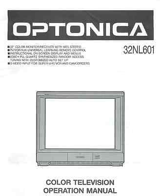 Optonica Sharp 32NL601 User's Manual