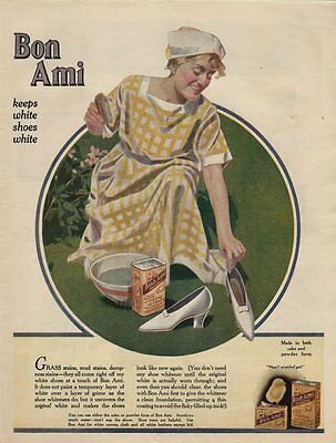 Beautiful 1920 Full Page Color Advertisement - Bon Ami Cleansing Powder