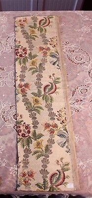 "Antique 18thC French Floral Silver & Gold Metallic Silk Brocade Fabric~37""X10"""