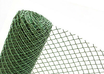 PLASTIC FENCE in 1,50m Height DARK GREEN Garden Mesh 50mm (SOLD BY THE METRE)