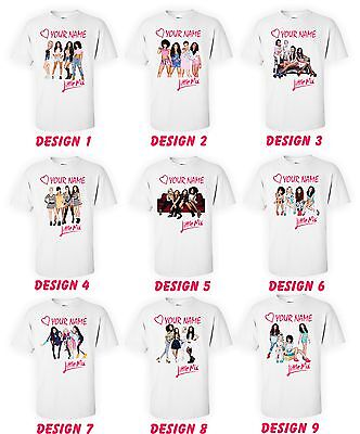 Little Mix Girls T Shirt Kids Personalised T Shirt With Name Kids Tee Childs Top