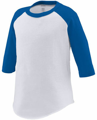 Augusta Sportswear Toddler 3/4 Sleeve Fishtail Bottom Baseball T-Shirt. 422