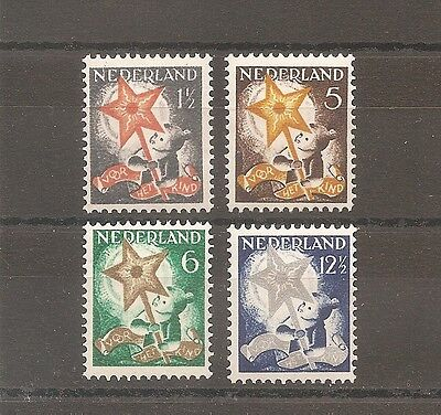 Timbre Pays Bas Netherlands Nederland 1933 N°259/262 Neuf* Mh