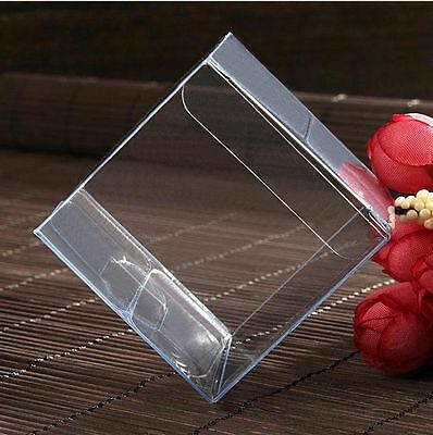 500pcs Wedding Transparent PVC Cube Favour Boxes Sweet Candy Cake Gift Bags 2016