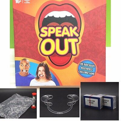 Speak Out Braces Board Mouthpiece Challenge Game Mouthguard Challenge Game US
