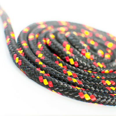 BLACK POLYPROPYLENE ROPE braided weatherproof durable UV-stable synthetic fibre