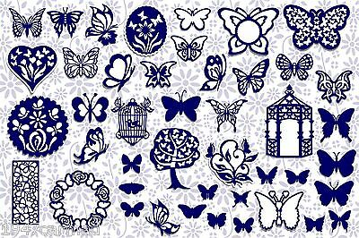 Brother ScanNCut Butterfly topper templates CD1017