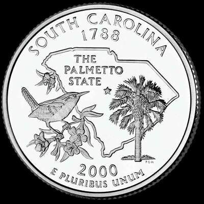 "2000 D South Carolina State Quarter New U.S. Mint ""Brilliant Uncirculated"""