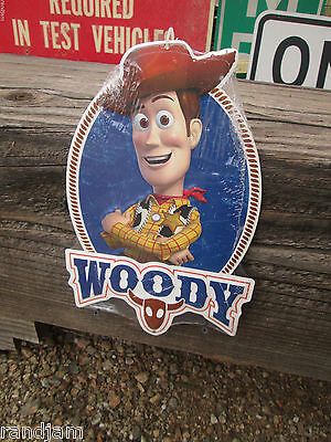WOODY Metal Sign Display Toy Story disneyland cool world Buzz Cars Land