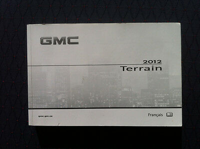 Gmc TERRAIN - 2012 - Owner's Manual - IN FRENCH - XF