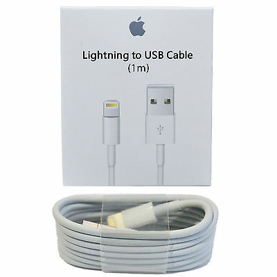 New Apple Lightning to USB Cable 1M For iPhone 5, 5S, 6, 6S, 6S Plus
