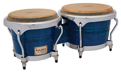 Tycoon Percussion 7 & 8 1/2 Concerto Series Bongos - Blue Finish - TB-800CBL