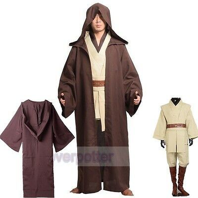 Adult Obi-Wan Kenobi Full Costume Star Wars Cloak Suits Cosplay Party Outfits