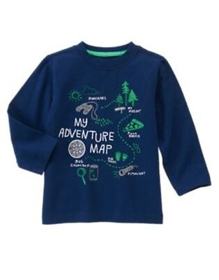 GYMBOREE BACKYARD EXPLORER NAVY My Adventure Map TEE 12 18 24 2T 3T 4T 5T NWT