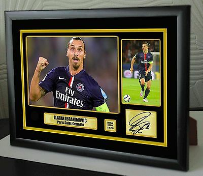 """Zlatan Ibrahimović  Framed Canvas Print Signed """"Great Gift"""" Limited Edition"""
