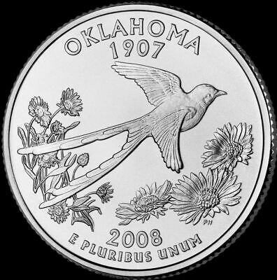 "2008 D Oklahoma State Quarter New U.S. Mint ""Brilliant Uncirculated"" Coin"