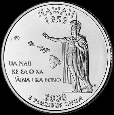 "2008 P Hawaii State Quarter New U.S. Mint ""Brilliant Uncirculated"" Coin"