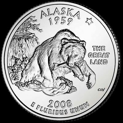 "2008 P Alaska State Quarter New U.S. Mint ""Brilliant Uncirculated"" Coin"
