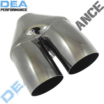 Dea Black Chrome-Double Dumper Exhaust Tip 2.5'' Inlet