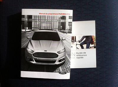 FORD FUSION - 2013 - Owner's Manual - IN FRENCH - XF