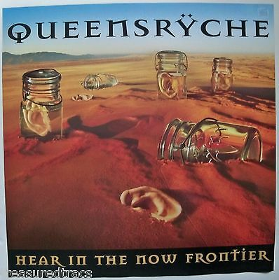 Original 1997 Queensryche Hear in the Now Frontier 2 Sided EMI Promo Poster