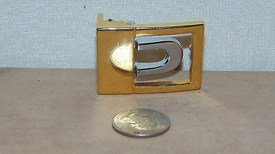 Vintage Gold And Silver Tone  Belt Buckle