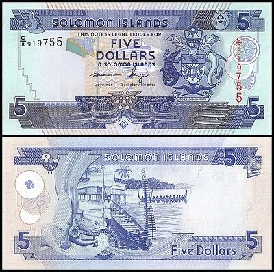 Solomon Islands 5 Dollars, 2004-11, P-26, UNC