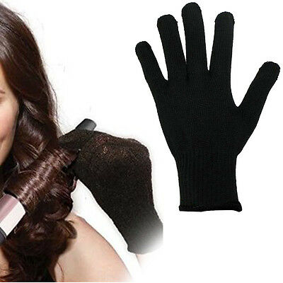 Heat Resistant Blocking Glove for Hair Curling Flat Iron Hair Styling Tool Black