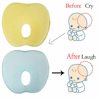 Soft Infant Baby Pillow Memory Foam Prevent Flat Head Cushion Sleeping Support