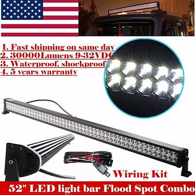52Inch Led Work Light Bar Atv 4Wd Suv Ute Atv 4X4 Offroad Jeep Truck Driving Fog
