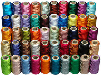 50 Assorted Rayon Machine Embroidery Thread Spools