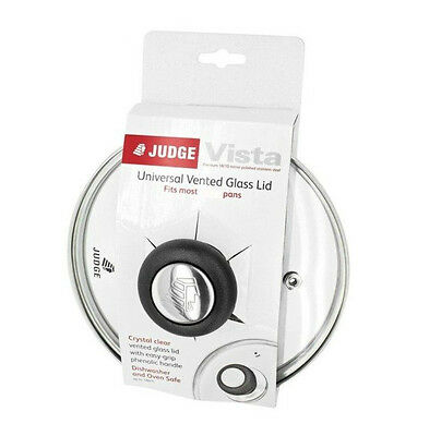New Judge Vista Replacement / Spare Pan & Saucepan Glass Lids with Handles