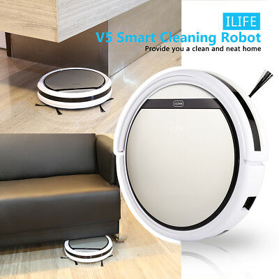 ILIFE V5 Smart Cleaning Robot Cleaner Auto Vacuum Microfiber Saugroboter Silve
