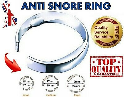 Stop Snoring Ring Anti Snore Stopper Acupressure Sleep Aid Device - 3 Sizes UK