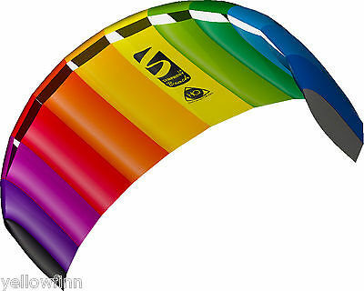 HQ Power Kite Symphony Beach III 1.8M Rainbow Ready to Fly Outdoor Package - NEW