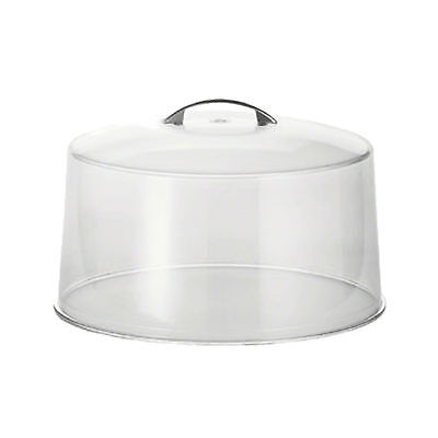"Cake Stand Cover Plastic with Metal Handle 30cm/12"" Box of 6"
