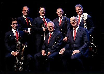 Dutch Swing College Band Autogrammkarte Original Signiert ## BC G 12958