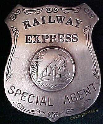 Old West Railway Express Special Agent silver badge #BW50