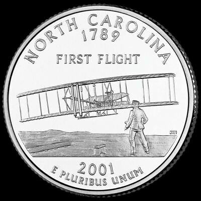 "2001 D North Carolina State Quarter New U.S. Mint ""Brilliant Uncirculated"""