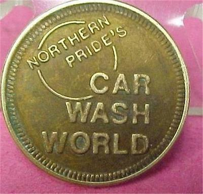 "Elkhart Indiana-Northern Pride's Car Wash World ""good For"" 25 Cents Token =6168C"