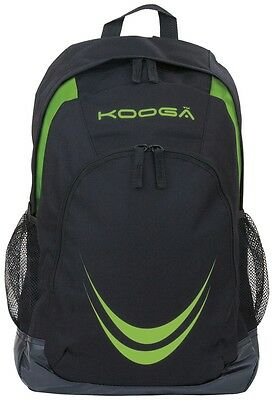 Kooga Essentials Backpack Black and Lime