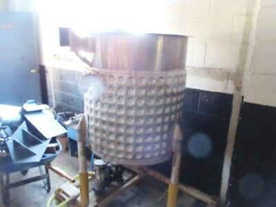 100 Gallon Will Flow Corp Stainless Steel Dimple Jacketed Tank