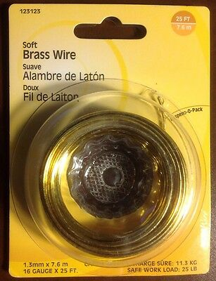 Hillman Fasteners 123123 Soft Brass Wire 16 Gauge 25' New in Box Fast Shipping!