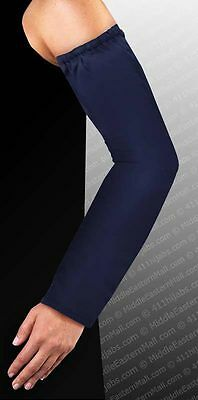 Long Arm Sleeves Warmers Cotton Plus Size Hijab Navy Blue #13 Ships From USA