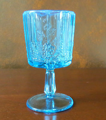 Westmoreland Blue Opalescent Paneled Grape Water Goblet(s)