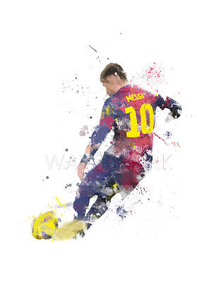 ART PRINT Lionel Messi illustration Barcelona Football Wall Art Poster Photo