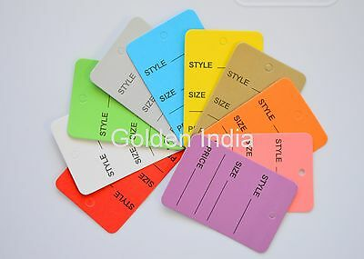 1000 Mix Colors Merchandise Price Jewelry Garment Store Paper Tags small