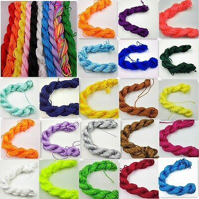 Nylon Cord Thread Braid String Thread String For Chinese Knot Bracelet 1mm 2mm