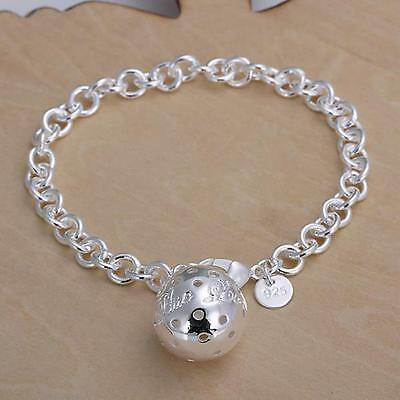 Classics Hollow Ball 925 Sterling Silver Chain Bracelet For Women Gift